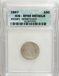 Early Dimes, 1807 10C --Scratched--XF45 ICG. XF45 Details. JRCS#1. NGC Census:(9/145). PCGS Population (15/155). Mintage: 165,000. Numis...