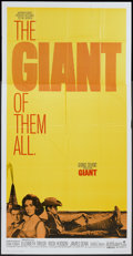 "Movie Posters:Drama, Giant (Warner Brothers, R-1970). Three Sheet (41"" X 81""). Drama...."