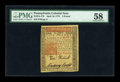 Colonial Notes:Pennsylvania, Pennsylvania April 10, 1775 £5 PMG Choice About Unc 58....