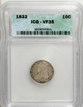 Bust Dimes: , 1832 10C VF35 ICG. NGC Census: (4/227). PCGS Population (7/239).Mintage: 522,500. Numismedia Wsl. Price for NGC/PCGS coin ...