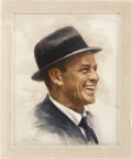 Movie/TV Memorabilia:Original Art, Frank Sinatra Portrait....