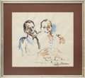 Movie/TV Memorabilia:Original Art, Frank Sinatra and Jilly Rizzo Portrait by LeRoy Neiman....