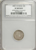 Coins of Hawaii, 1883 10C Hawaii Ten Cents--Improperly Cleaned--VF20 NCS. VF20Details. NGC Census: (2/273). PCGS Population (22/452). Minta...