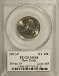 Statehood Quarters: , 2001-P 25C New York MS68 PCGS. PCGS Population (626/13). NGC Census: (9/1). Numismedia Wsl. Price for NGC/PCGS coin in MS6...