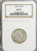 Barber Quarters: , 1892-O 25C AU55 NGC. NGC Census: (10/311). PCGS Population(32/338). Mintage: 2,640,000. Numismedia Wsl. Price for NGC/PCGS...