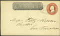 Stamps, #U9, 1854, 3c Red. (Used)....