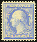 Stamps, #366, 1909, 15c Pale Ultramarine. (Original Gum - Never Hinged)....