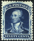 Stamps, #47, 1875 Reprint, 90c Deep Blue VF 80 PSE. (No Gum As Issued)....
