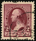 Stamps, #219D, 1890, 2c Lake, XF-S 95J PSE. (Used)....