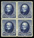 Stamps, #227, 1890, 15c Indigo. (Original Gum - Never Hinged)....
