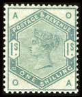 Stamps, Stanley Gibbons #187-96 (Scott #98-107), 1883, ½p - 1sh. (Original Gum - Hinged)....