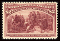 Stamps, #242, 1893, $2 Brown Red, VF-XF 85 PF. (Original Gum - Previously Hinged)....