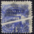 Stamps, #114, 1869, 3c Ultramarine. (Used)....