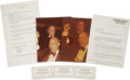 Movie/TV Memorabilia:Photos, Frank Sinatra Tribute to Joe Louis Documents and Photos....