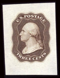 Stamps, 1851, 3c Die Essays on India (11-E4c and 11-E12b),...
