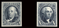 "#3-4TC, 1847, 5c & 10c, ""ATLANTA"" Trial Color Plate Proofs Grouping"