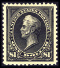 Stamps, #261, 1894, $1 Black, XF-S 95J PSE. (Original Gum - Previously Hinged)....