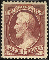 #208a, 1882, 6c Deep Brown Red, SUP 98 PSE. (Original Gum - Previously Hinged)