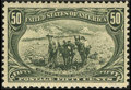 Stamps, #291, 1898, 50c Sage Green, XF-S 95 PSE. (Original Gum - Previously Hinged).... (Total: 1 Slab)