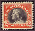 Stamps, #523, 1918, $2 Orange Red & Black, SUP 98 PSE. (Original Gum - Never Hinged).... (Total: 1 Slab)