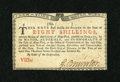 Colonial Notes:New York, New York January 6, 1776 (Water Works) 8s Crisp Uncirculated. ...