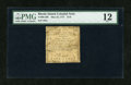 Colonial Notes:Rhode Island, Rhode Island May 22, 1777 $1/8 PMG Fine 12....
