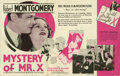 "Movie Posters:Mystery, Mystery of Mr. X (MGM, 1934). Herald (6.5"" X 7""). Mystery.. ..."
