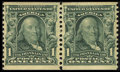 Stamps, #318, 1908, 1c Blue Green, VF-XF 85 PSE. (Original Gum - Previously Hinged).... (Total: 1 Slab)