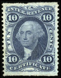 Stamps, #R33b, 1862, 10c Blue. (Used)....