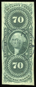 Stamps, #R65a, 1862, 70c Green. (Used)....