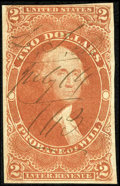 Stamps, $2 Red, Probate of Will, Imperf (R83a),...