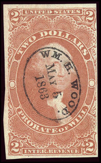 #R83a, 1863, $2 Red. (Used)
