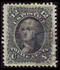 Stamps, #85E, 1867, 12c Black, VF-XF 85 PSE. (Used)....