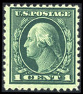 Stamps, #544, 1922, 1c Green F 70 PSE. (No Gum)....