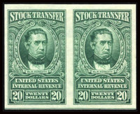 1c - $20 Bright Green, without Overprint (RD67-85 var)