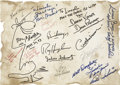 Movie/TV Memorabilia:Autographs and Signed Items, Sci-Fi Legends Autographed Page....