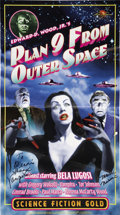 Movie/TV Memorabilia:Autographs and Signed Items, Maila Nurmi Signed Plan 9 From Outer Space Poster....