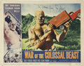 Movie/TV Memorabilia:Autographs and Signed Items, Bert I. Gordon Signed War of the Colossal Beast Lobby Card....