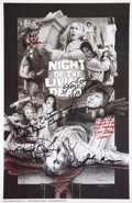 Movie/TV Memorabilia:Autographs and Signed Items, Night of the Living Dead Cast and Crew Signed Poster....