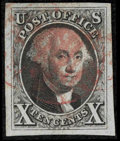 Stamps, #2, 1847, July 1, 10c Black SUP 98 PSE. (Used)....
