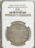 So-Called Dollars, 1900 Medal HK-782, Bryan So Called Dollar, Gorham MFG Company, S-10 XF40 NGC....