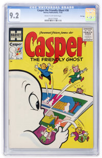 Casper the Friendly Ghost #38 File Copy (Harvey, 1955) CGC NM- 9.2 Cream to off-white pages