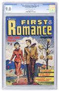 Golden Age (1938-1955):Romance, First Romance #3 File Copy (Harvey, 1949) CGC VF/NM 9.0 Cream tooff-white pages....