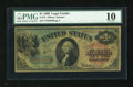 Large Size:Legal Tender Notes, Fr. 18 $1 1869 Legal Tender PMG Very Good 10....