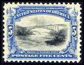 Stamps, #297, 1901, 5c Ultramarine & Black, SUP 98 PSE. (Original Gum - Never Hinged)....