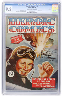 Heroic Comics #17 File Copy (Eastern Color, 1943) CGC NM- 9.2 Cream to off-white pages