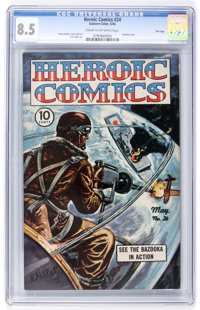 Heroic Comics #24 File Copy (Eastern Color, 1944) CGC VF+ 8.5 Cream to off-white pages