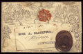 Stamps, 1840, 1p Black, Mulready Stereo A236 Form 6. (Used)....