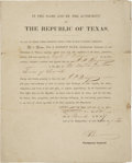 Autographs:Statesmen, Texas Revolution: Joseph P. Pulsifer Retained Letter Diary SpanningOctober 30, 1832-August 4, 1836. 146 letters, totaling 2...