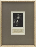 """Autographs:Statesmen, Sam Houston, Signature. Excised from a larger document, 3.5"""" x1.5"""", sight size. Attractively..."""